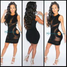 Black tight short cute dress