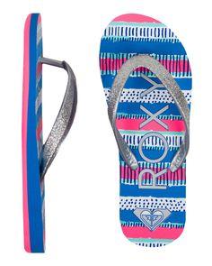 cb976b9cb44 Roxy Girls Tahiti V Flip Flop Sandals