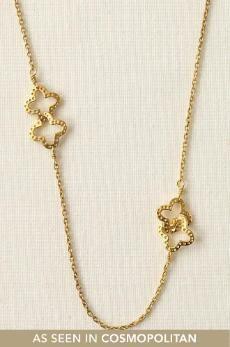 stella + dot clover necklace