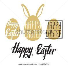 Happy Easter card. Easter background. Easter sunday. Easter egg. Easter lettering in egg shape. Easter Holiday. Easter Vector. Handwritten Happy Easter. Easter greeting card. Happy Easter typography.