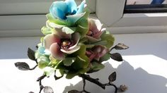 Vintage Capodimonte Floral Bouquet Tall by NanaBarbarastreasure