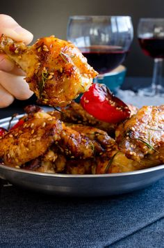Honey Sesame Chicken Wings~ addictive chicken wings with a healthy method.  /  giverecipe.com