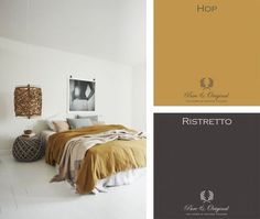 Blog | Pure & Original Summer colors - blog Room Wall Colors, Bedroom Colors, Orange Home Decor, My Ideal Home, Blog Deco, Yellow Walls, Cozy House, House Colors, Colorful Interiors