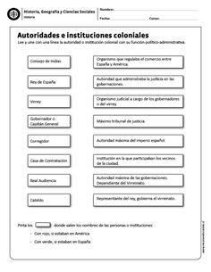 Autoridades e instituciones coloniales