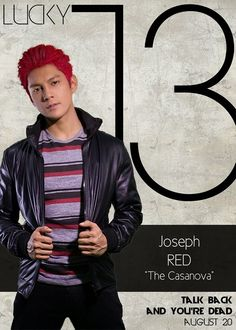 """Joseph Marco as Jared """"Red"""" Dela Cruz - The Cassanova Lucky 13 Talk Back You're Dead Cast Boys Names All Names Pictures Information Videos Name Pictures, Funny Pictures, Joseph Marco, Talking Back, You're Dead, All Names, Young Actors, Gangsters, Random Stuff"""