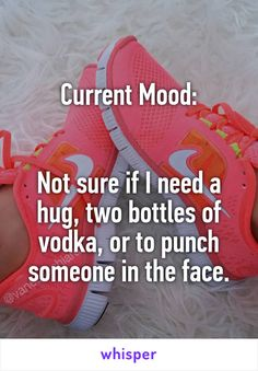 Current Mood:   Not sure if I need a hug, two bottles of vodka, or to punch someone in the face.