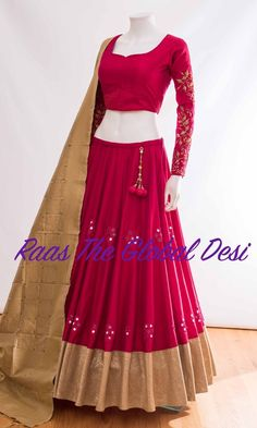 Indian Gowns Dresses, Indian Fashion Dresses, Dress Indian Style, Indian Designer Outfits, Half Saree Designs, Choli Designs, Fancy Blouse Designs, Lehenga Saree Design, Lehenga Designs