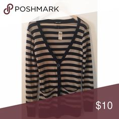 Black and Tan Cardigan Brand new comfy cardigan.  Pairs well with anything Sweaters Cardigans