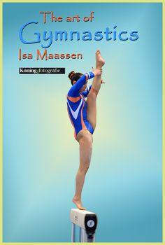 The art of Isa Maassen op balk, tijdens de 1/4 Finales Turnen Dames op zaterdag 21 maart 2015 in Tilburg