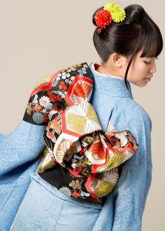 Hurisode Japanese coiffure