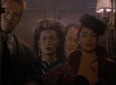 Regine & her minions (Fright Night 2)  I really wish I could find a pic of this whole outfit becuz it is BAD! She was wearing this when she first appears on screen.