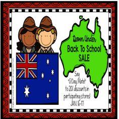 Down Under Back To School Sale! Jan. 16-17, 2016