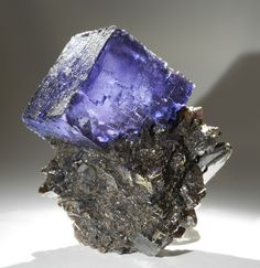 Fluorite on Sphalerite  Locality: Elmwood Mine, Smith County, Tennessee
