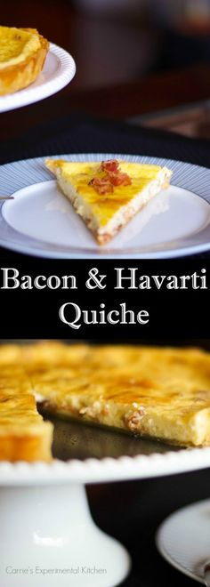 Bacon & Havarti Quiche | Carrie's Experimental Kitchen    Quiche is so versatile and is perfect for breakfast, lunch or dinner.