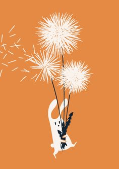 Poster | BUNNY AND DANDELION BOUQ von Budi Kwan | more posters at http://moreposter.de