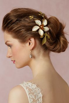 Golden Pearl Comb by Paris By Debra Moreland for BHLDN