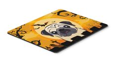 Halloween Fawn Pug Mouse Pad, Hot Pad or Trivet BB1820MP