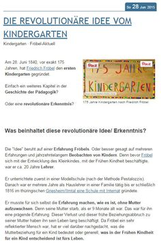 froebel kindergarten 2 essay Ebscohost serves thousands of libraries with premium essays, articles and other content including inspiration to teach – reflections on friedrich froebel and why he.