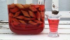 Rabarbersnaps - Vodka / snaps med rabarber - Opskrift - Mad og HaveMad og Have