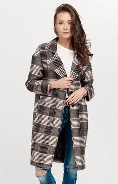 Roco Oversizowy płaszcz w kratę 0014/A06 Duster Coat, Jackets, Fashion, Down Jackets, Moda, Fashion Styles, Jacket, Fashion Illustrations, Suit Jackets