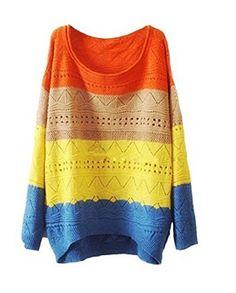 Ninimour- Fashion Women Colorway Cut Knitwear Sweater (Orange) Ninimour http://www.amazon.com/dp/B00MB4RJT8/ref=cm_sw_r_pi_dp_UpNiub0WK0K63