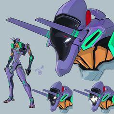 Neon Genesis Evangelion, Armas Wallpaper, Robot Factory, Illustration Example, Robot Monster, Mecha Suit, Japanese Robot, Robot Concept Art, Robot Design