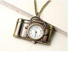 Necklace pocket watch necklace jewelry vintage necklace by kumio, $3.95