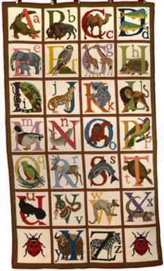 Elizabeth Bradley Needlepoint - Animal Alphabet Rug Kit