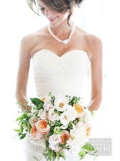 Bouquet Inspiration: Summer peach and yellow wedding bouquet #bouquet #flowers