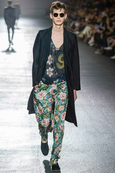 SPRING 2014 MENSWEAR Dries Van Noten -Can.. can boys actually dress like this in real life please? And--and look like this??