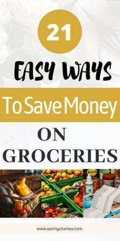 best ways to save money on groceries Money Saving Meals, Save Money On Groceries, Ways To Save Money, Money Tips, Make Money Online, How To Make Money, Save Money On Food, Finance Tips, Money Management