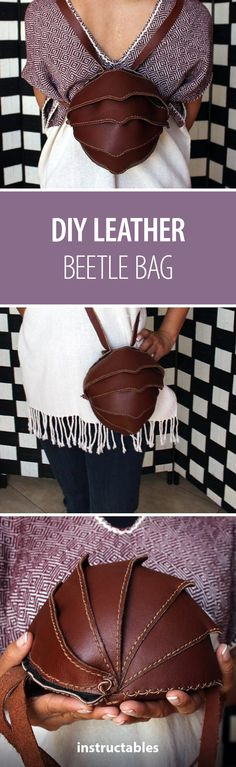 Learn #leatherworking with the Beetle Bag!