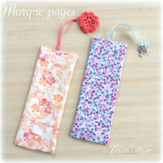 Marque-page en tissu pour les Serial Crocheteuses & More 263 - Mon trico'côtier Sewing Hacks, Sewing Projects, Crochet Feather, No Sew Fleece Blanket, Watercolor Fabric, Craft Stalls, Crochet Decoration, Creation Couture, Couture Sewing