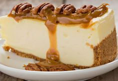 This brown sugar cake topped with caramel frosting and a drizzle of fresh caramel & fleur de sel make this Salted Caramel Layer Cake heavenly dessert! Pecan Cheesecake, Classic Cheesecake, Easy Cheesecake Recipes, Cheesecake Bites, Chocolate Cheesecake, Turtle Cheesecake, Strawberry Cheesecake, Brown Sugar Cakes, Weird Food