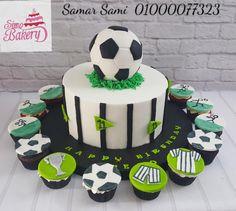 Birthday Cakes For Men, Football Birthday Cake, Birthday Party Snacks, Homemade Birthday Cakes, Cake Birthday, Soccer Cupcakes, Soccer Ball Cake, Cake Ball, Football Cakes For Boys