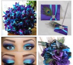 not a fan of makeup but this is cute Fun ideas for my turquoise & purple wedding!