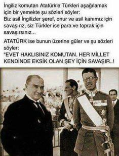Kapak böyle olur!!! Meaningful Quotes, Inspirational Quotes, Turkish People, Turkish Army, The Turk, Great Leaders, Historical Pictures, The Republic, Famous Quotes