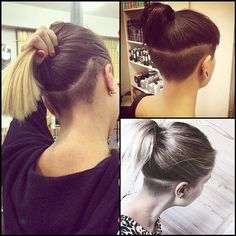 Image result for long hair with undercuts