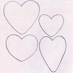 Сердце выкройка - Выкройка