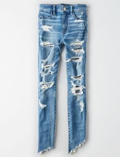 Shop American Eagle for Women's Jeans that look as good as they feel. Find high-waisted, skinny, curvy, cropped & jegging fits in new washes and stretch levels today! Cute Ripped Jeans Outfit, Ae Jeans, Calvin Klein Outfits, American Eagle Ripped Jeans, Fall Outfits, Cute Outfits, Stylish Jeans, Soft Pants, Mens Outfitters