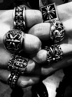 Fuck the beauty Chrome Hearts Ring, Biker Rings, Rocker, Gothic Jewelry, Fashion Rings, Piercings, Jewelery, Rings For Men, Fashion Accessories