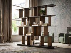 Buy online Hakkasan By elite to be, open double-sided teak bookcase