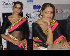 Bipasha Basu at Aatma Promotions in Kolkata in a Masaba sari