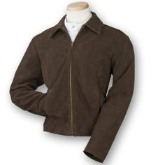 Burks Bay Womens Premium Suede Ladies Jacket, Large, Brown