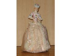 Pincushion Doll  Vintage Fancy China Half by NewEnglandYesterdays