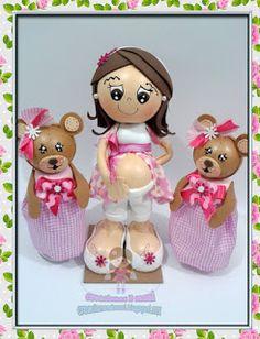 creaciones D Moni: fofuchas embarazaditas y ositas para Baby shower f...