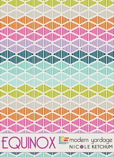 Different than our usual - (Nicole Ketchum Print + Pattern Feature fabrics for Modern Yardage)