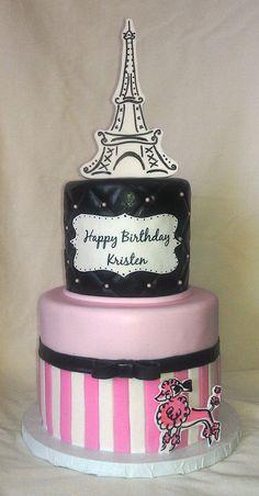 Paris birthday cake | Flickr - Mick's Sweets Photo Sharing!