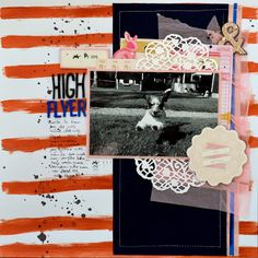 Life of Julia: High Flyer 12x12 scrapbook page