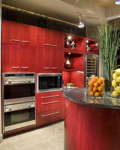 Red Kitchen    Winner: Best in Show, 2008 ASID Arizona North Chapter Design Excellence Award.  Winner: 1st Place Residential Kitchen, 2008 ASID Arizona North Chapter Design Excellence Award